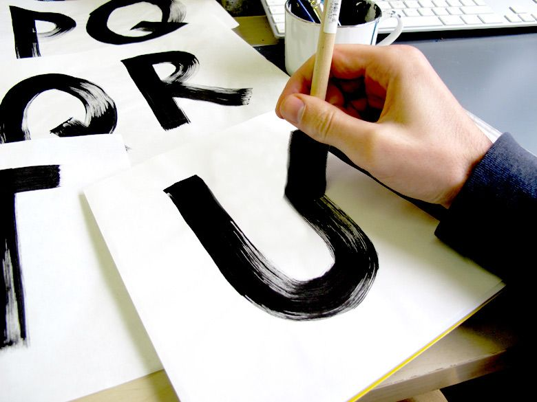 hand painted typefaces