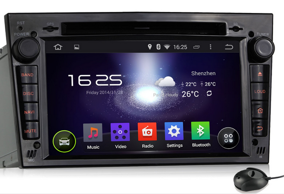 Pumpkin Pure Android 4.4 Kitkat Car Stereo for Opel