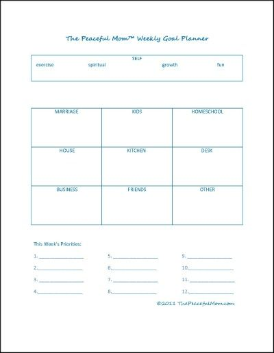 Get Organized With This Free Printable Weekly Goal Planner