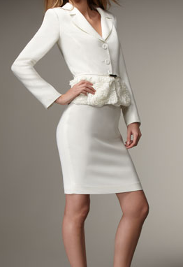 Ruffle Detail Belted Skirt