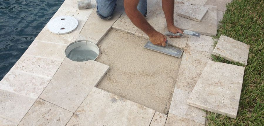 Travertine Paver Pool Deck Ideas Installation And Cost