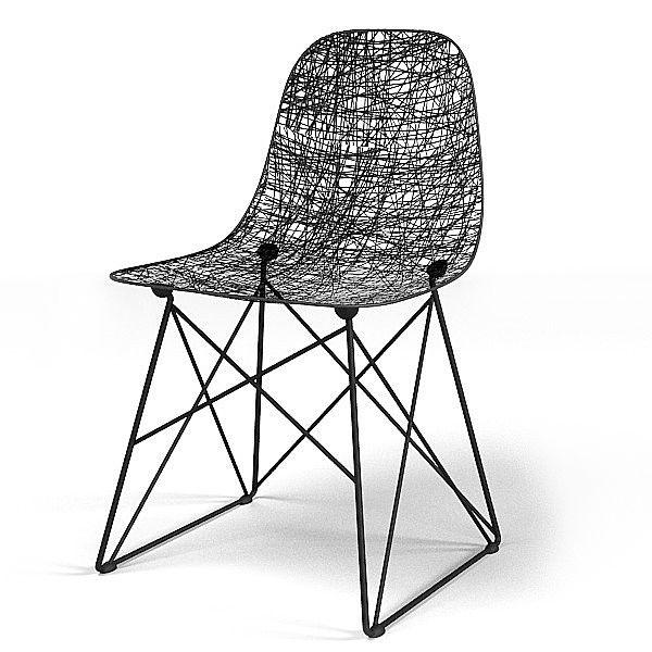 Sedia Carbon Chair Di Bertjan Pot E Marcel Wanders Per Moooi