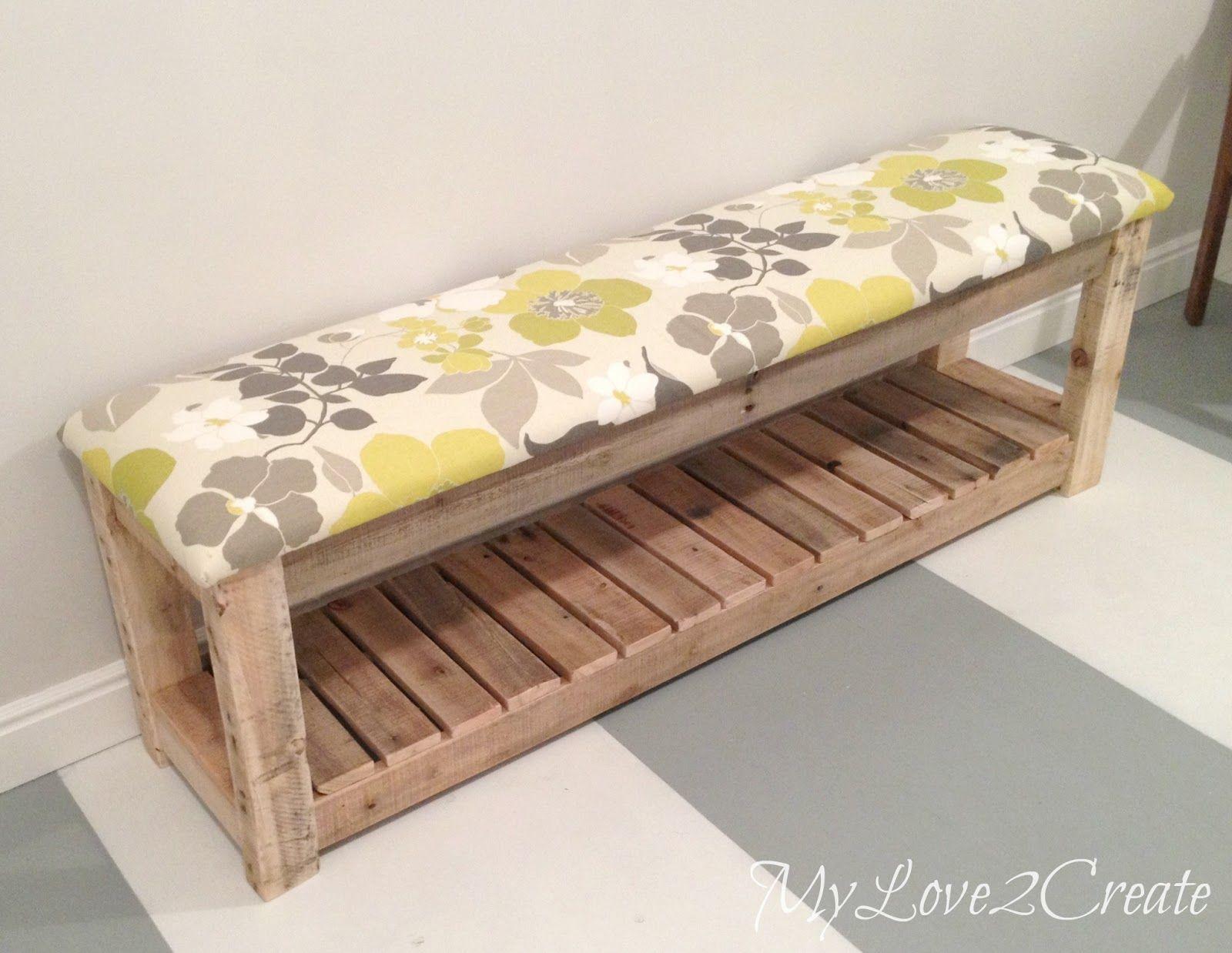 Banc D Entrée En Palette diy upholstered bench | meuble palette, fabrication meuble