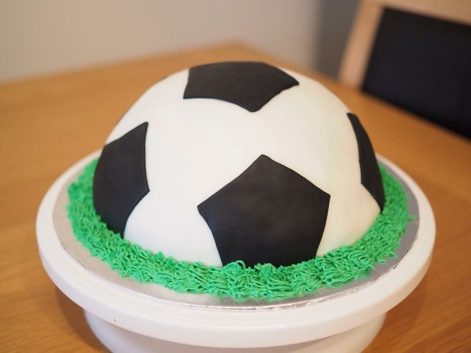 This Was A Simple Football Cake I Made Near The End Of Last Year I Used The Lakeland Hemisphere Cake Tin Again To Get The Football Shape