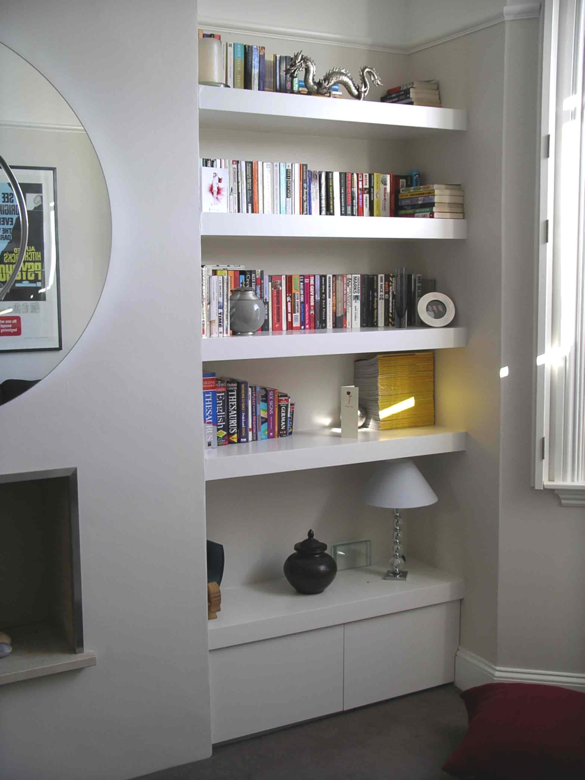 Floating Shelves On Hidden Fixings Floating Shelves Living Room