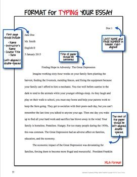 Mla format of essay