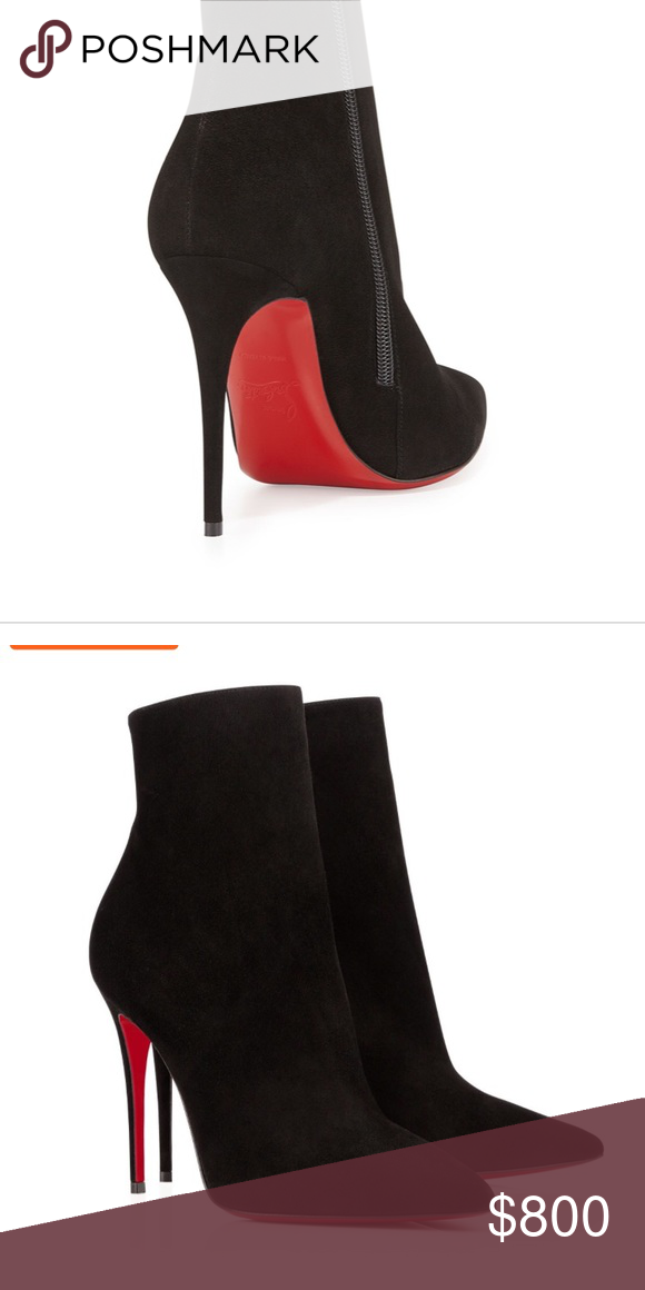 02cc6aef199 Louboutin red bottom so kate black suede boots Ankle boots Littly ...