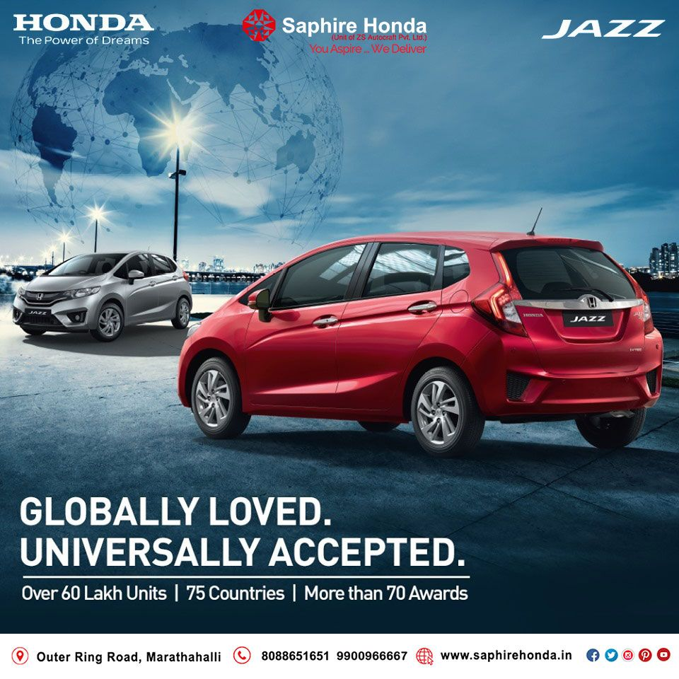 Honda Jazz is winning hearts all over the world! Visit:  or Call: 8088651651 #HondaJazz #HondaOffer #HondaCars