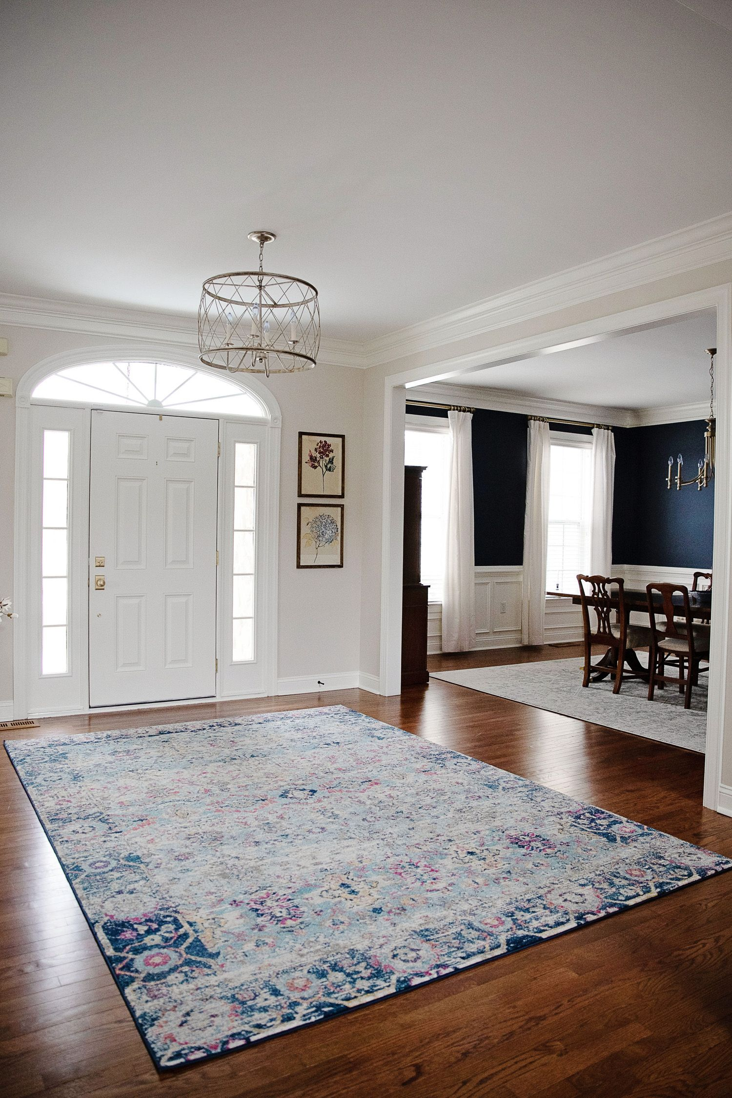 Foyer Living Dining Room Reveal Dining Room Rug Living Dining