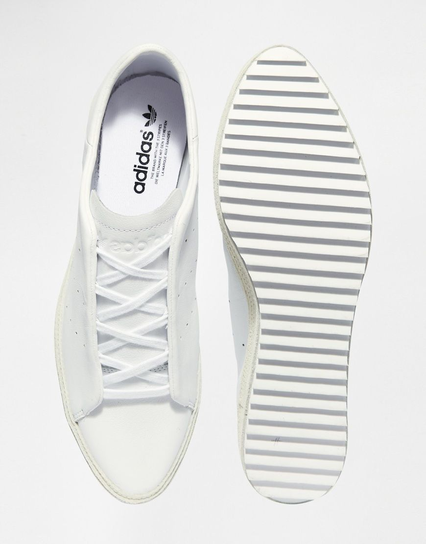 df34f4d47ac1f Image 3 of adidas Originals Pointed Court White Flatform Sneakers