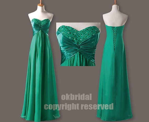 1ca71110f5599 green prom dress long prom dress evening prom dresses by okbridal ...