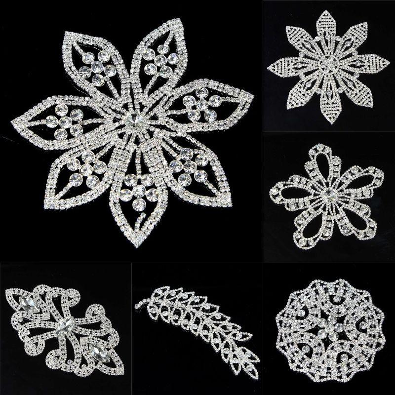 1PC New Shiny Rhinestone Applique DIY Leaf / Flower Crystal Clothes Sewing Craft   Crafts, Sewing, Embellishments & Finishes   eBay!