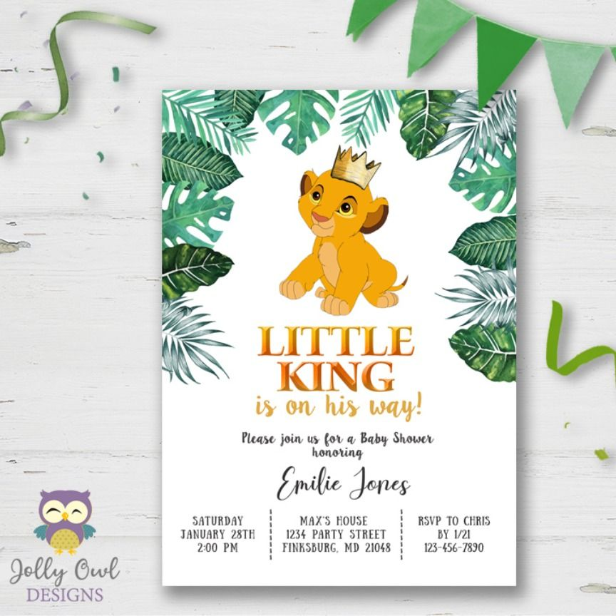 The Lion King Baby Shower Invitation In