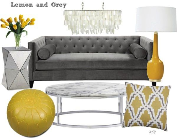 Rustic Luxe · Lemon And Grey. Grey Living Room ... Part 97