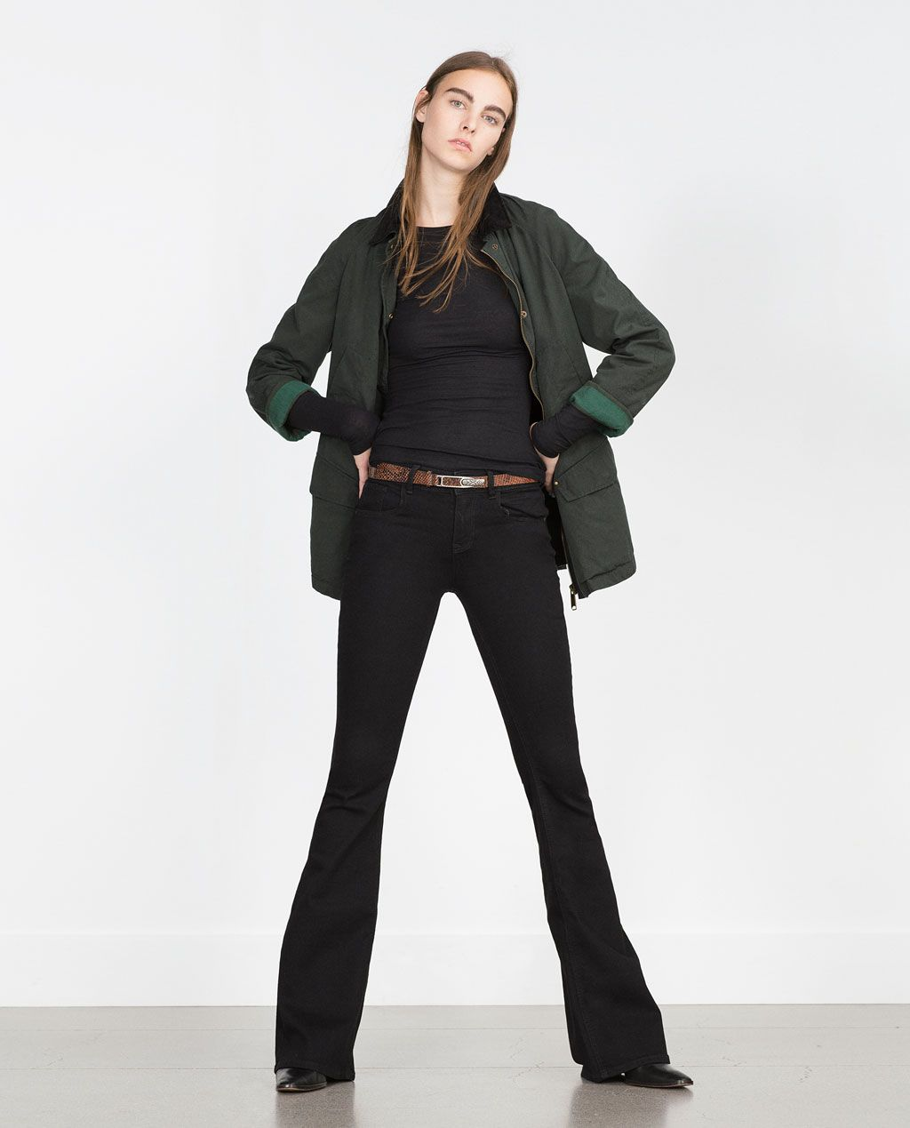 Image 1 of FLARED JEANS from Zara | Christmas ideas ...