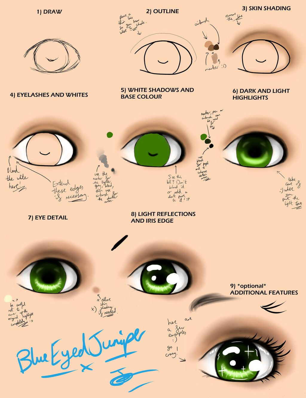 How To Draw A Perfect Green Eye Beautiful Doll Face Paint Doll Eyes Eye Painting