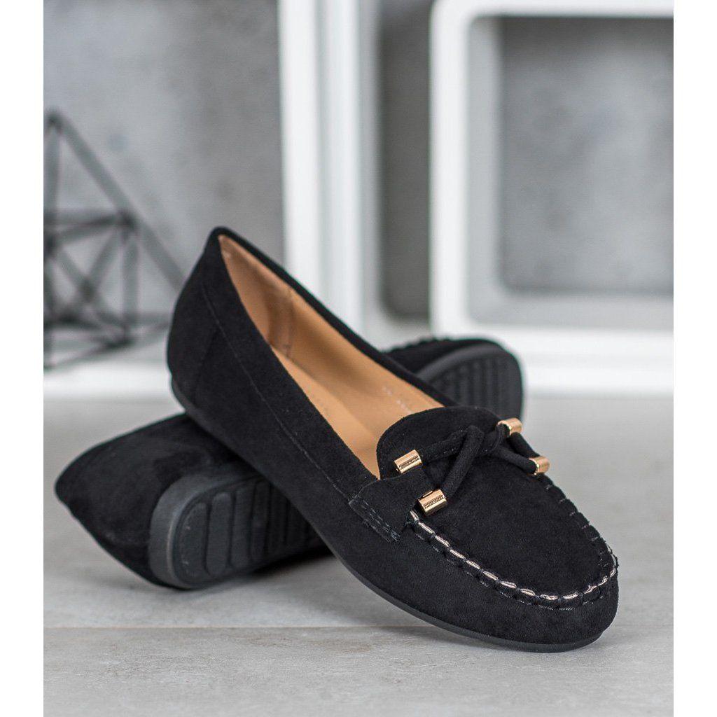 Nio Nio Eleganckie Zamszowe Mokasyny Czarne Dress Shoes Men Loafers Men Loafers