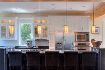 Eaglerock contemporary kitchen by Michelle Morelan Design   Hubbardton Forge Paralline Mini Pendant - 18355 http://goo.gl/wSxrBo