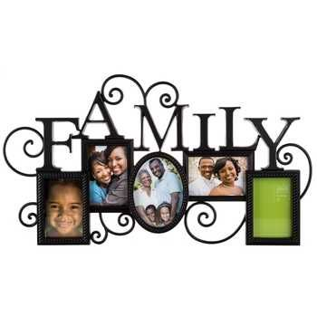 bronze 5 opening family collage frame