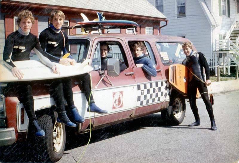8th Street boys in Ocean City, Maryland, 1984 with Art´s 1975 Chevy Suburban. Glen Brown, Billy Wilkins, Art Baltrotsky (photo courtesy), Matt Engle & Jay Reale.