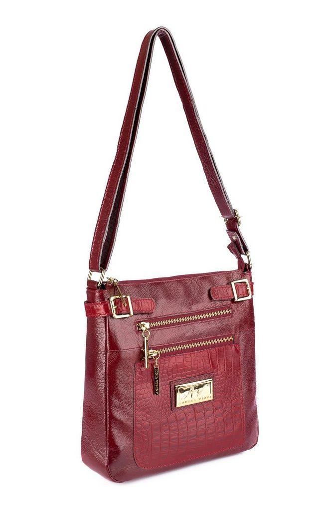 1bab652fe Bolsa Transversal feminina de couro Chloe vermelha | bolsa celular ...
