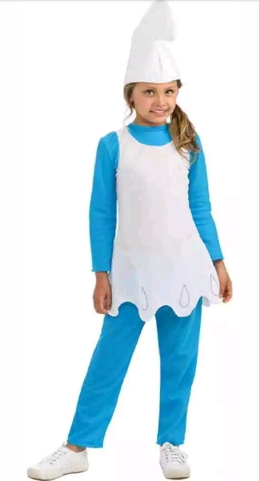 White  Smurfs Gnome Hat  Halloween Costume Fancy Dress Cap  Mens Womens NEW