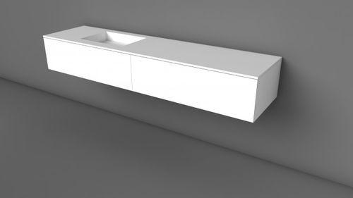 Doppel-Waschtischunterschrank / modern / aus Eiche ... | {Doppel waschtischunterschrank design 68}