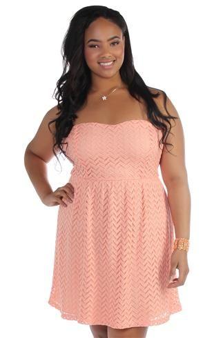 Deb Peach Dress