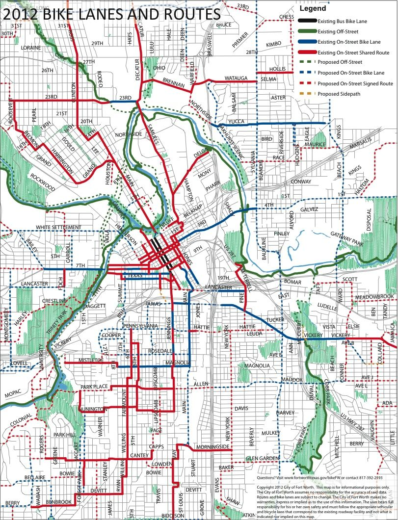 Fort Worth Bike Map Get On Your Bikes And Ride With Images