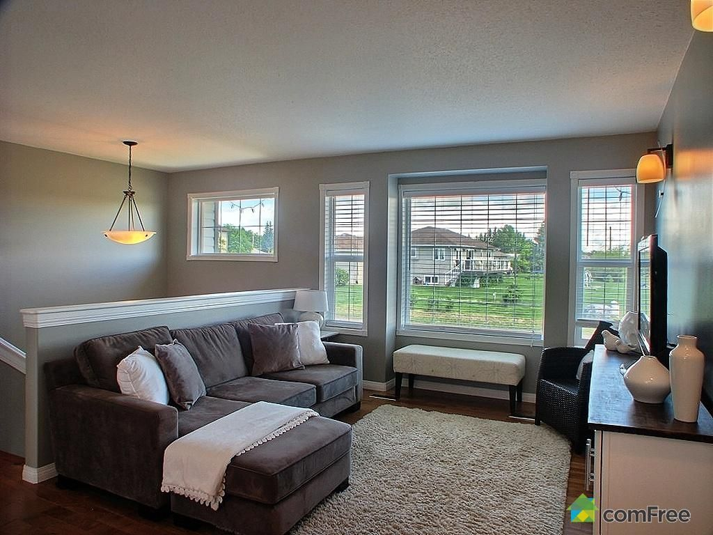 Split level living room design daily home list add more windows especially one above the entry this is the look for the half wall railing but