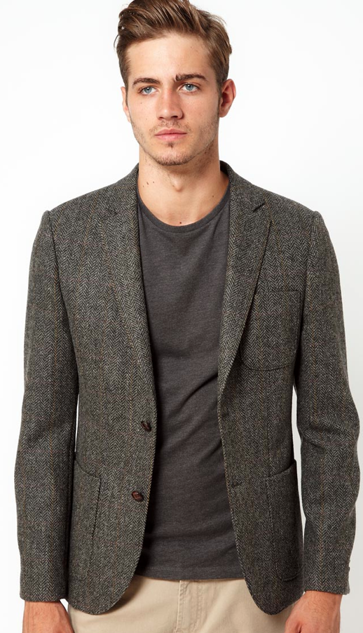 This blazer looks great with this crew neck t-shirt. | Fashion ...