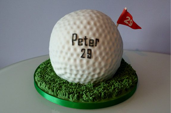 Giant Golf Ball Cake