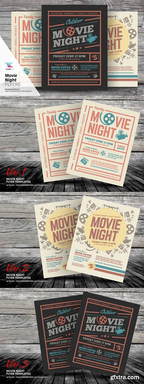 Movie Night Flyer Templates  Cm  HttpWebtutorslivMl