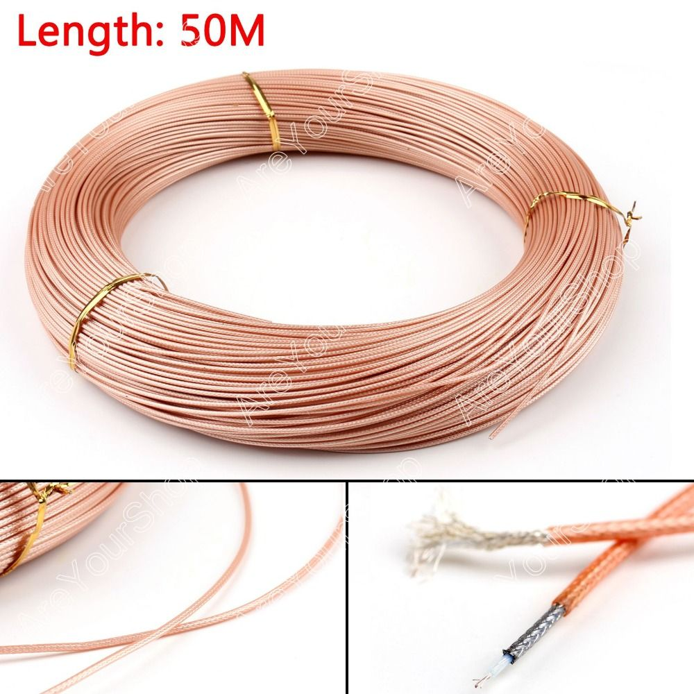 Sale 5000cm 50ohm M17 93 Rg178 Coax Pigtail Rf Coaxial Cable Wiring A Plug Connector 164ft