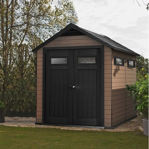 Keter Fusion 7 Ft. W x 9 Ft. D Apex Plastic Shed