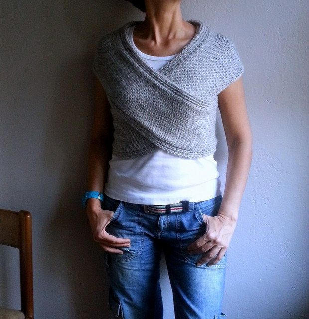 Knit grau Weste Cross Pullover Schal Halswärmer Wrap Hood Capelet Top grau Pullover, Frühjahr Mode by bysweetmom on Etsy