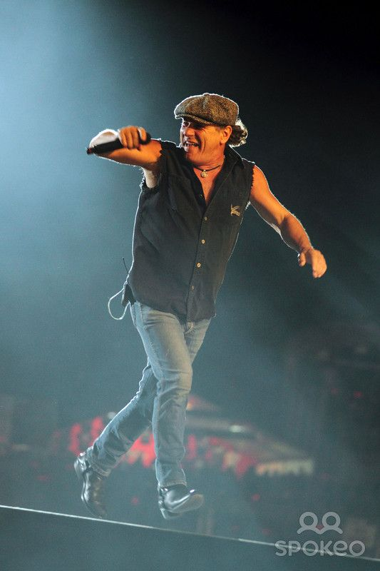 Brian Johnson of ACDC performing live in concert as part of the ...