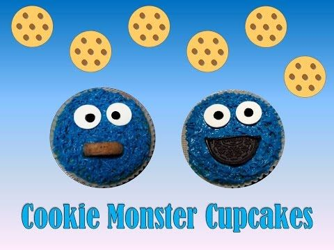 Cookie Monster Cupcakes! Super fun and easy to do. Literally takes minutes :)