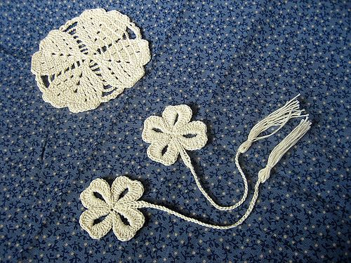 Simply Lucky Clover Bookmark - Free download Crochet Pattern ...