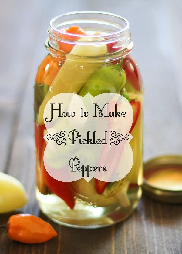 How To Make Pickled Peppers Stuffed Peppers Pickling Recipes Canning Recipes