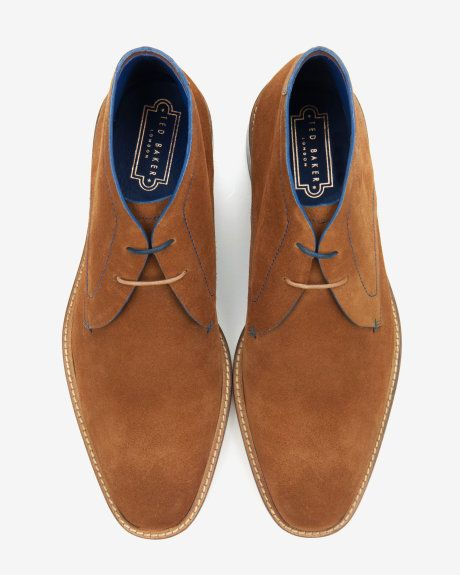 Suede derby chukka boots Tan | Shoes | Ted Baker | Me
