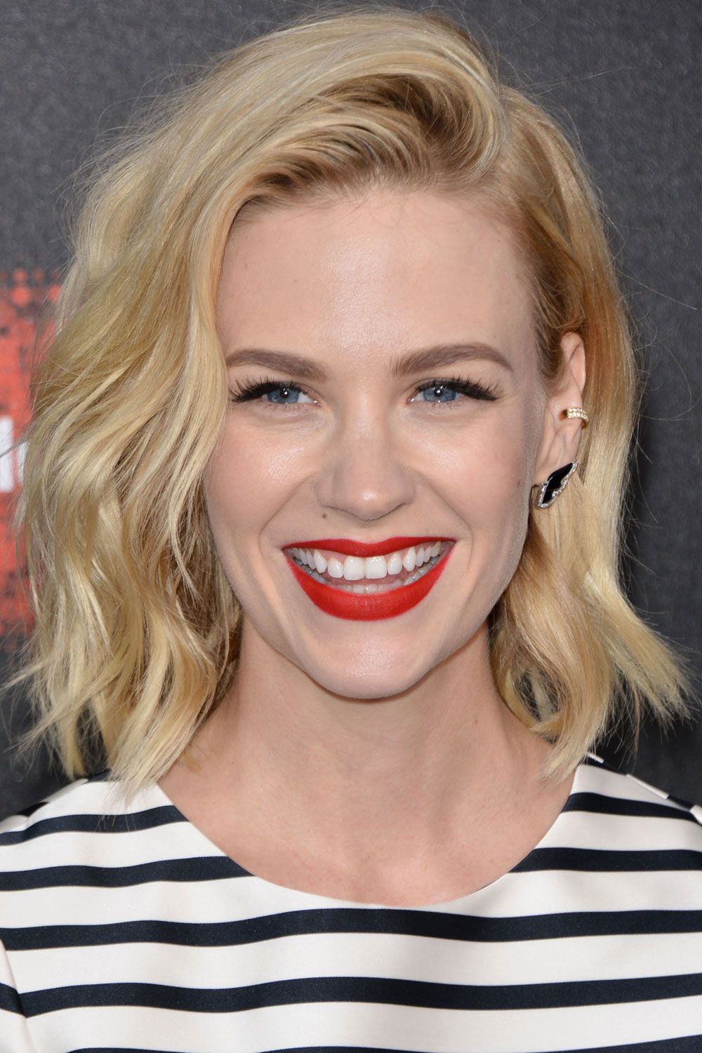 Short Hairstyles Your A List Inspiration January Jones Wavy Bobs