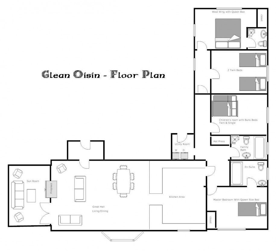 remarkable floor plan a 2 bedroom house house floor plan design Wonderful Eco-Friendly Homes Floor Plan of Unique Design: Awesome Glean  Oisin Eco Friendly Homes Floor Plans L Shaped Home Design ~ novavn.com Art