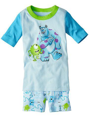 Disney•Pixar Monsters Inc. Short John Pajamas from Hanna Andersson | Love this movie #boyspajams