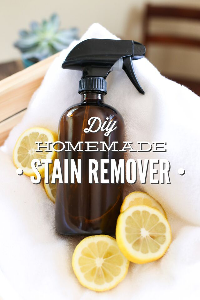 Diy Homemade Stain Remover Spray Gentle On Clothes Tough On