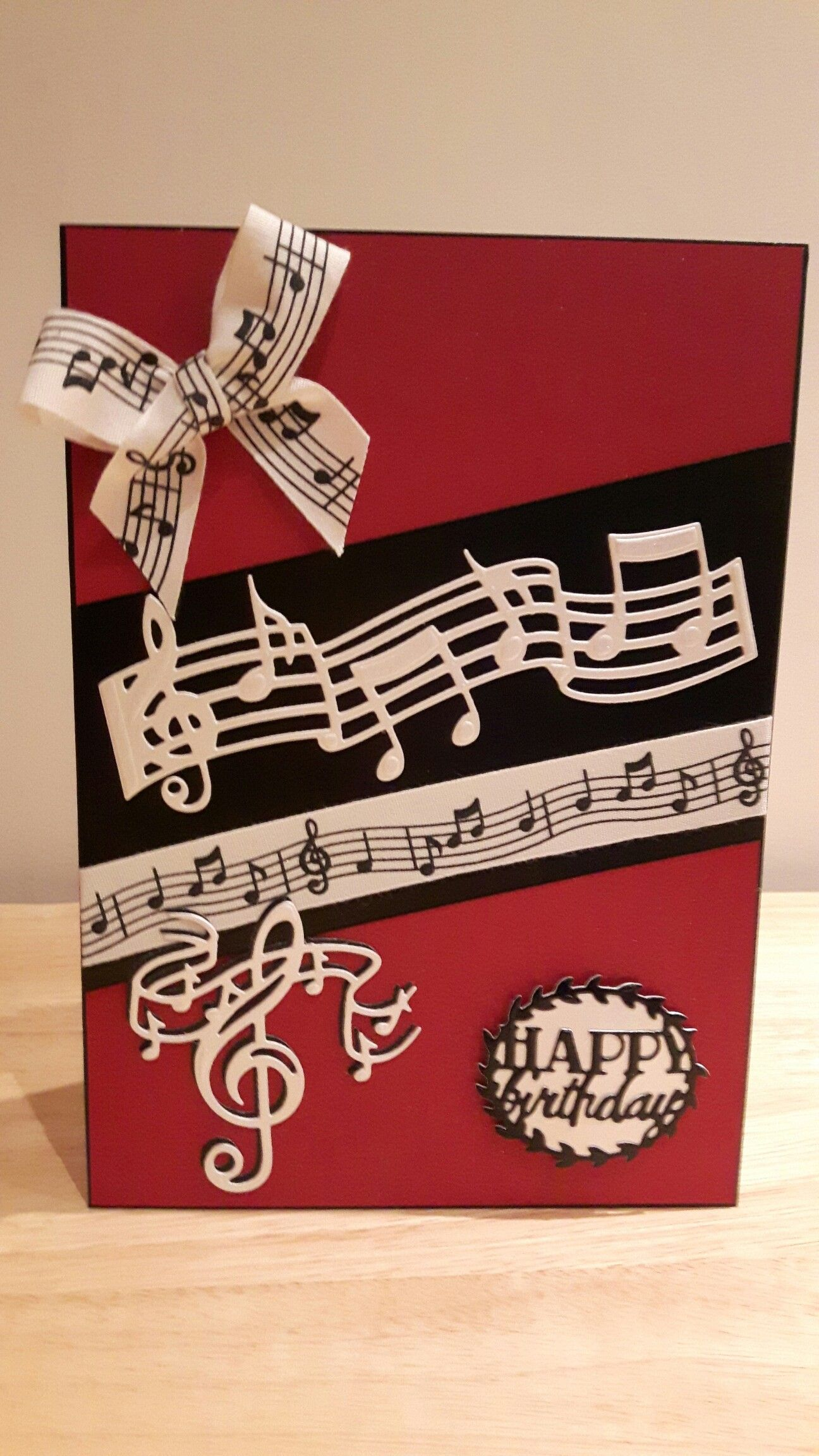 Tonic Music Notes Birthday Cards For Men Happy Musical