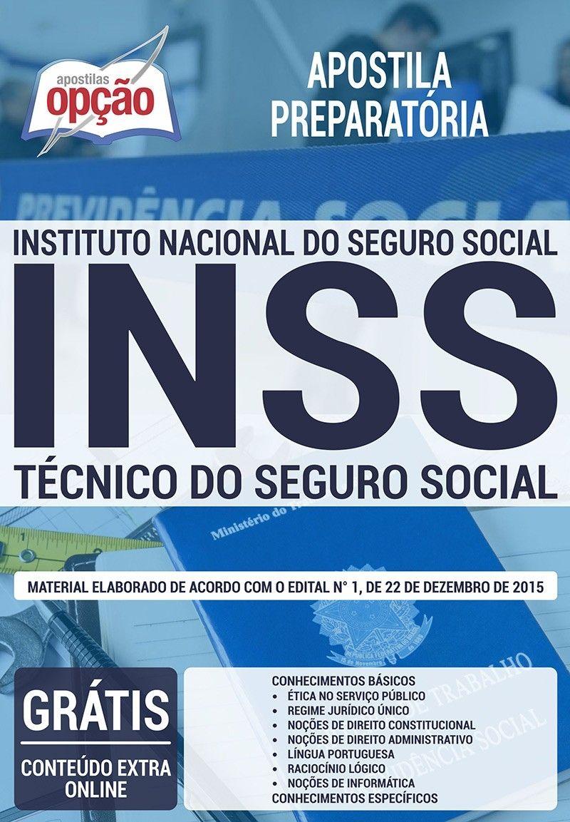 Apostila Preparatoria Inss Tecnico Do Seguro Social Com Imagens