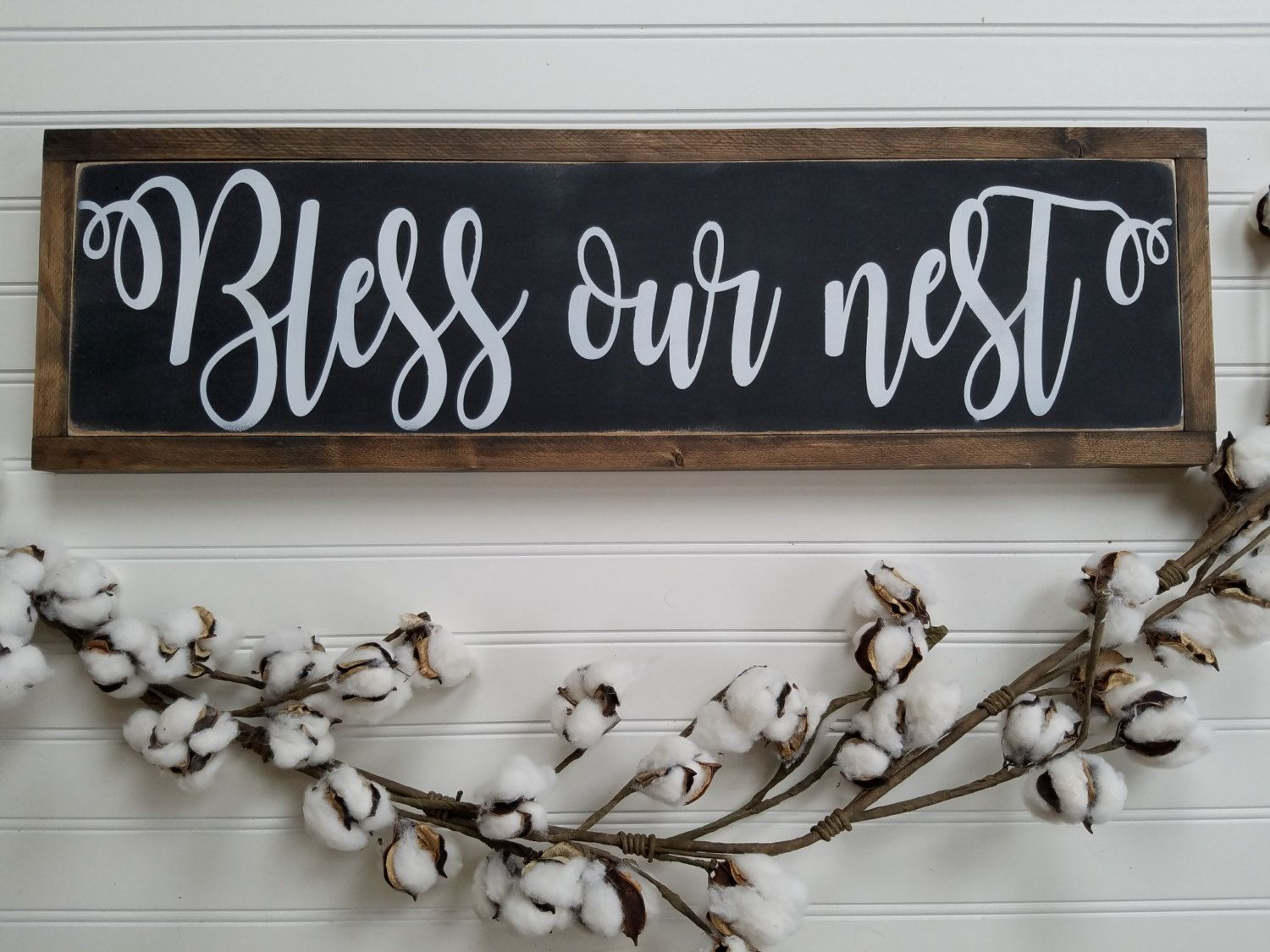 Wooden Decorative Signs Simple Blessed Sign  Bless Our Nest  Bless Our Home Sign  Farmhouse Decorating Inspiration