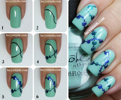10 Easy Acrylic Nail Art Tutorials For Beginners Learners 2014 1
