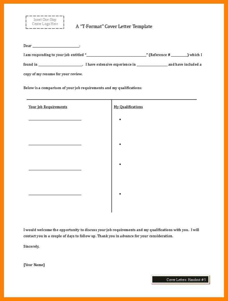 t chart cover letter template #chart #cover #coverlettertemplate